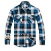 yarn dyed plaid pattern long sleeve dress shirts