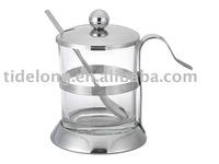 Sugar Bowl, S/SSugar Pot, Sugar Box, Sugar Jar, S/S Sugar Bowl with Lid