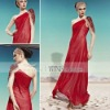 Coniefox One-Shoulder Red Formal Cocktail Dresses 58029