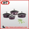 8-piece Forged Aluminum Durable Ceramic Cookware Set