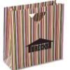Triangle Handle Gift Bag - Green Stripe