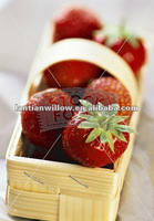 economical wood chip fruit handle baskets