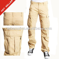 (#TG296P ) 2012 100% Cotton Soft Sueded Brand Mensmulti pocket cargo pants for men