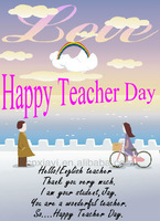 Good quality Happy Teacher`s day paper card