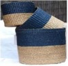 Top quality storage basket made of wheat straw hood