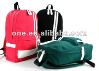 Durable Leisure Polyester Backpac Black Red Green Travel Backpack