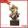 realistic bust cowboy figure for collection