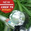 CREE T6 led bicycle light and rechargeable headlamp