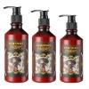 Keratin-treated and moist hair styling gel