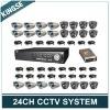 24Channel D1 Network Complete CCTV Set
