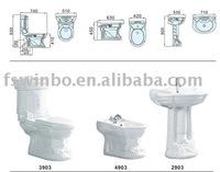 High Quality Ceramic Cheap Bathroom Suite 3903