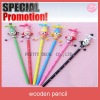 wooden cartoon pencil animal pencil lovely pencil