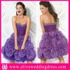 LV50100 Strapless Sweetheart A-line Short skirt with hand made flowers Beaded Tulle and Organza girls dresses