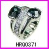 Fashion crystal engagement ring