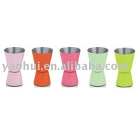 stainless steel measuring cup with color coating