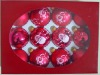 glass Christmas ornament ball& christmas gift box