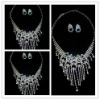Necklace Jewelry Set With Crystal Diamond