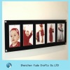 slatwall multiple acrylic picture frame /perspex wall mount photo frame