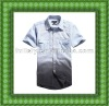 Latest fashion casual men half sleeve shirts men's fashion woven shirt from garment factory
