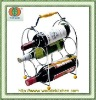 5 bottles wine holder with handle