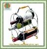 5 bottles wine holder with handle