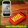 2012 hot selling silicon shoe lace case for iphone 4