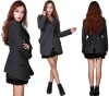 new style latest design fashion women coat and skirt