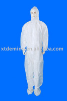 Disposable Non-woven Protective Coverall with Hood and Boots