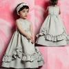 Beaded Boidce Skirt with Ruffles Flower Girl Dress 2012