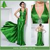 2013 Nobe Halter Open Back Beaded Taffeta Mermaid Evening Dresses