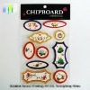 New design shinning warmly 3D colored sticker paper