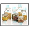 air-tight storage glass bottle &jars with lid