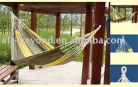 yellow stripe nylon travel hammock (RHC-4203)