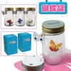 Butterfly Jar with optical control LED light