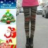 Warm Fleece Leopard Spandex and velvet women winter thick leggings