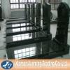 France style shanxi black granite designed tomstone