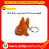 Soft goldfish keychain PU stress ball