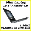 High quality 10 inch mini netbook student laptop android4.0