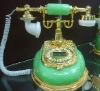 antique resin,man-made jade telephone set