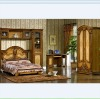 Mid-east antique style brown color Children bedroom sets furniture TY-W-9001