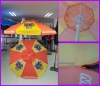1.8M cute small two layer fabric parasol umbrella