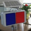 New Generation Solar Red And Blue LED Flash Warning Lights