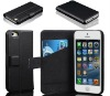Ultra thin wallet book style Leather case for iphone 5 case wiht card slot