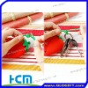 strawberry silicone key holder for promotional strawberry mini bag