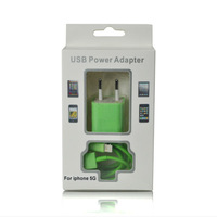 2 in 1 EU standard wall charger with sync data cable for iPhone 5