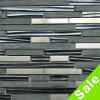 Hot Sale Stone Mix Glass and Metal Mosaic Tile Strip