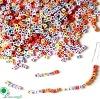 5.5mm Square Craft Plastic Alphabet Beads