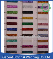Stretchable metallic glitter ribbon