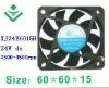 24V 6015 water cooling mist fan