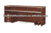 Hot-selling red mahogany wood office reception desk design(12RT103)
